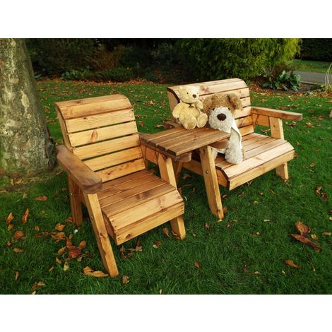 Little Fellas Bench/Chair Combination Set (Straight), wooden garden furniture for children, fully assembled