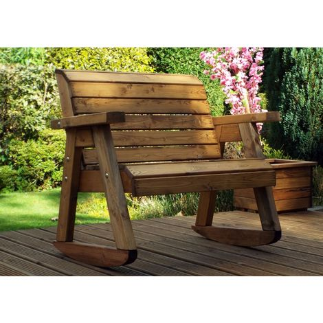 Little Fella's Bench Rocker, children's wooden garden furniture, fully assembled