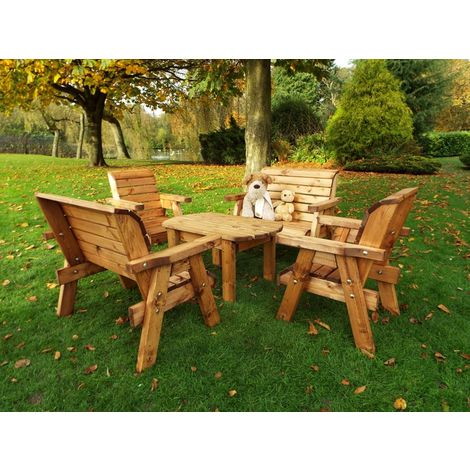 Little Fellas Deluxe Table Set, wooden garden furniture for children, fully assembled
