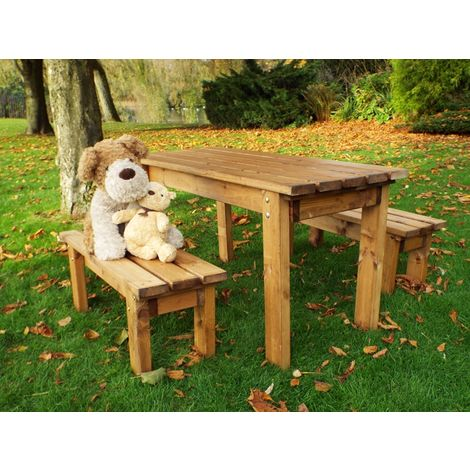 Little Fellas ECO Table Set, wooden garden children's furniture, fully assembled