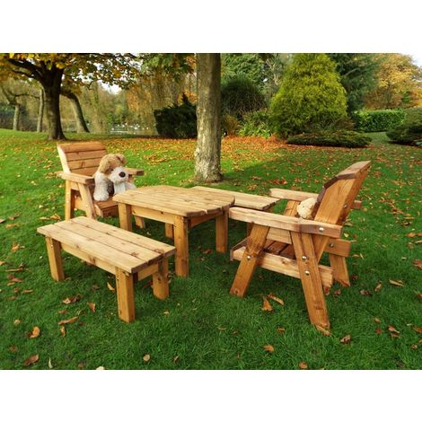 Little Fellas Medium Table Set, wooden garden furniture for children, fully assembled