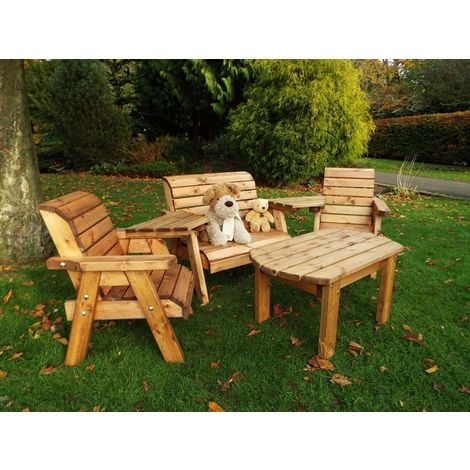 Little Fellas Multi Set, wooden garden furniture for children, fully assembled