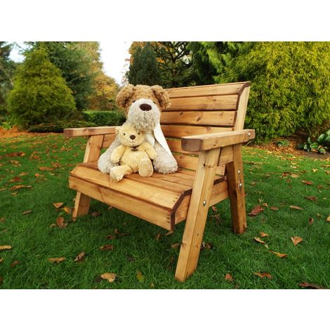 Little Fellas Traditional Bench, wooden garden children's furniture, fully assembled