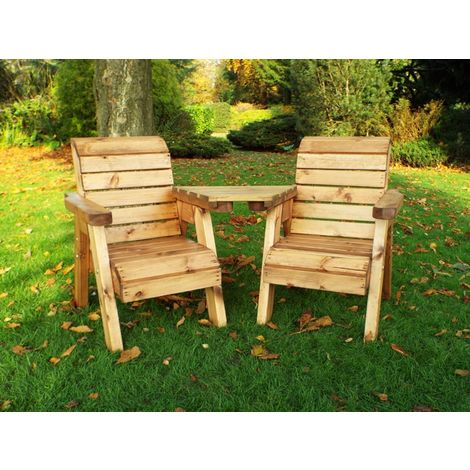 Little Fellas Twin Companion Set (Angled), Children's wooden garden furniture, fully assembled