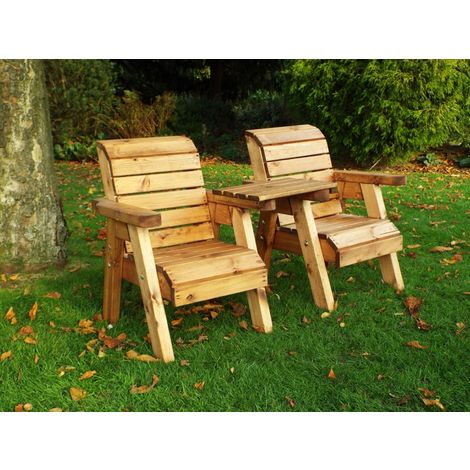 Little Fellas Twin Companion Set (Straight), wooden garden children's furniture, fully assembled