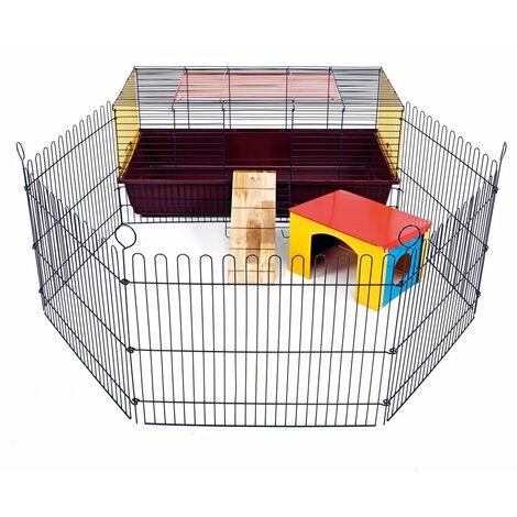 Little Friends 100 Cage d\'intérieur pour Lapin et Cochon d\'Inde avec enclos