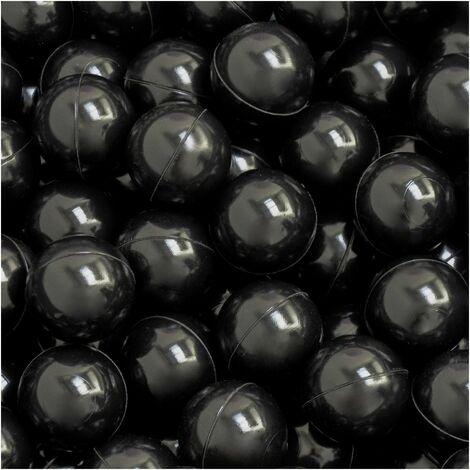 LittleTom 50 Bolas de PE 5,5cm de diámetro para llenar piscinas para niños Negro