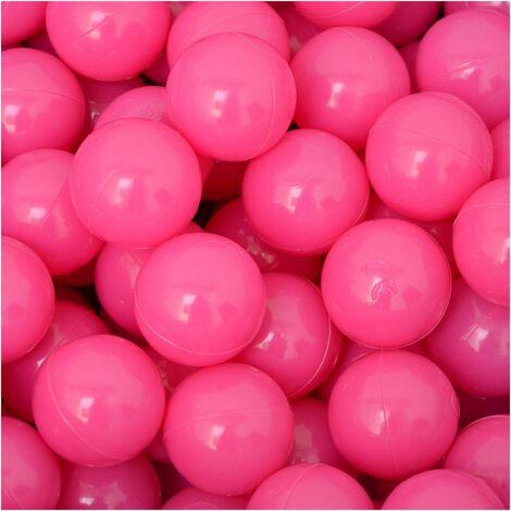 LittleTom 50 Bolas de PE 5,5cm de diámetro para llenar piscinas para niños Rosa