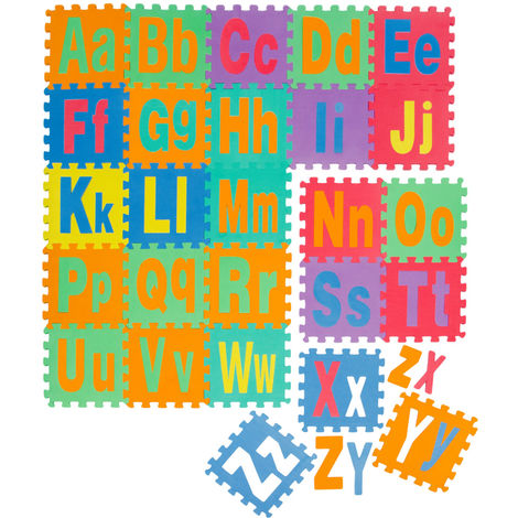 LittleTom Tapis de Jeu Doux pour Bébé Dalles Puzzle en Mousse Enfants Lettres