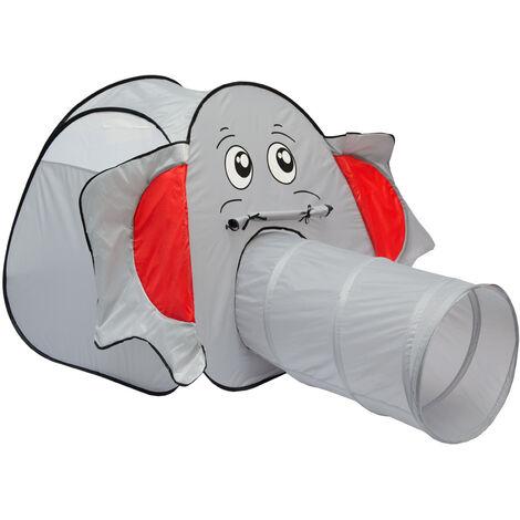 LittleTom Tente à boules en forme d'Éléphant 100x100x102cm avec Tunnel pop-up