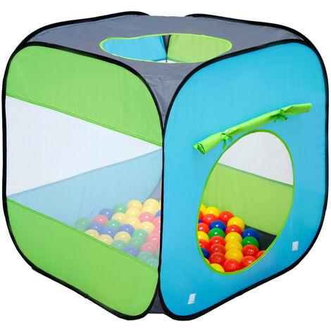 LittleTom Tente de jardin à boules 70x70x72cm jouet pour jeunes enfants Bleu