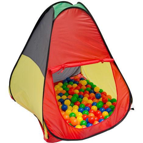 LittleTom Tente de jardin à boules 90x90x100cm jouet pour enfants Multicolore