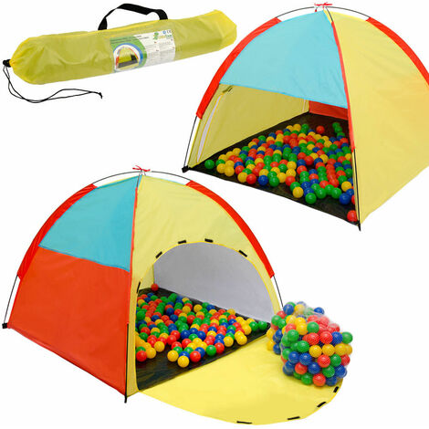 LittleTom Tente de Jeu 122x122x107cm jouet pop-up incl 200 Boules Multicolore