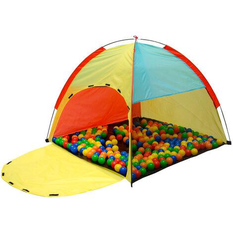 LittleTom Tente de jeux à boules 122x122x107cm jouet pour enfant Multicolore