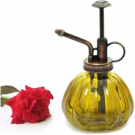 LITZEE 1 pieza rayas de colores Vintage maceta de vidrio decorativa regadera rociador a presión para plantas Bonsai flores Yelloe herramientas de jardinería