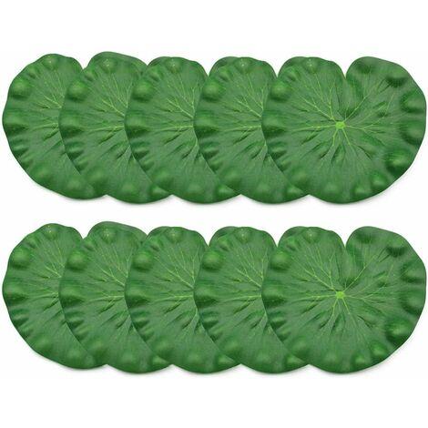 """main image of """"LITZEE - 10 hojas de loto flotantes para decoración de acuario, decoración de estanque de loto (18 cm)"""""""