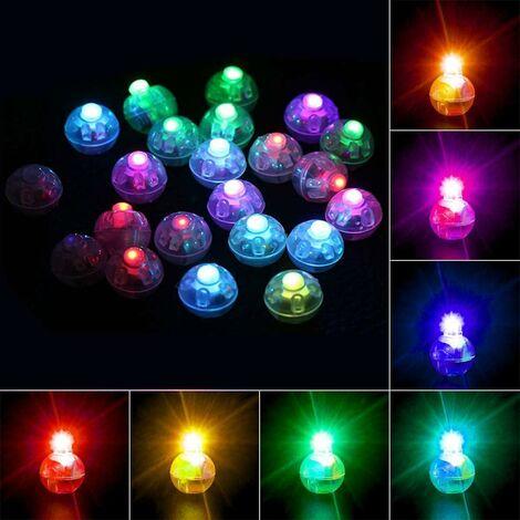LITZEE 100 luces LED redondas para globos, coloridas linternas de papel intermitentes para el hogar, bodas, cumpleaños, Halloween, Navidad, decoración de fiestas, decoración de pasteles