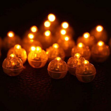 """main image of """"LITZEE 100 Pcs/lot Ronde LED Boule Lampes Papier Lanterne Ballon Fête De Mariage Fête d'anniversaire Festival Lumières Décoratives Multipul Couleur Choix(4#)"""""""