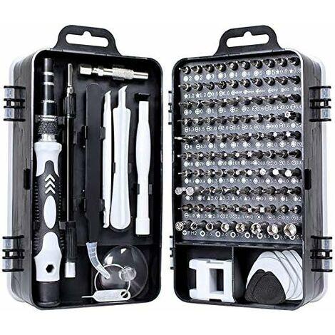 """main image of """"LITZEE 115 en 1 mini juego de destornilladores, kits de precisión, herramientas, destornillador torx de caja pequeña, desmontaje de computadora portátil para macbook, iphone, reparación, gafas, bricolaje, reloj, teléfono inteligente"""""""