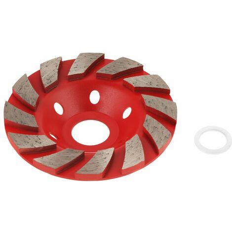 LITZEE 1pcs Disque de Meule Diamantée Segment Disque de Ponçage pour Granit Maçonnerie Pierre Béton Céramique Polissage, Diamètre Extérieur 100mm (Rouge)