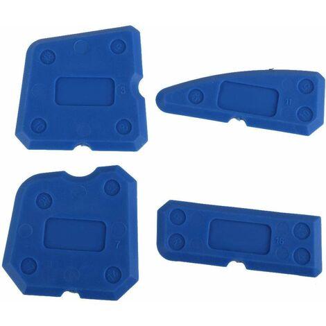LITZEE 4 Pièces Lisseur Joints Outils d'étanchéité Kit de Silicone et Outils de Calfeutrage pour Salle de Bain Cuisine et Joint Mastic Silicone Coulis Remover,bleu