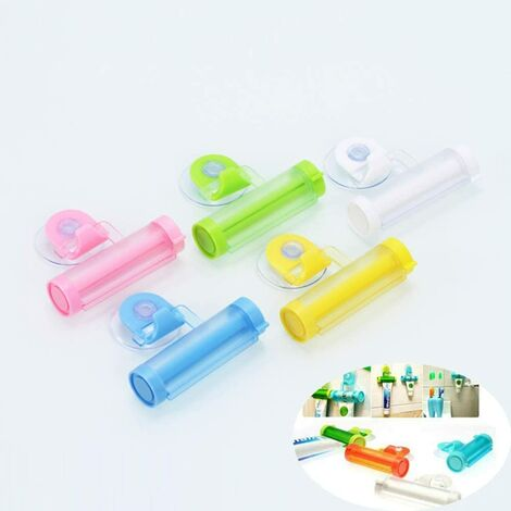 LITZEE 5 Pièces Distributeur de Dentifrice, Tube de Roulement Rouler Tube Presse, Tube de Dentifrice de Squeeze pour Les Mains Tube de Peinture Cosmétiques