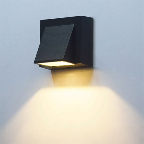 LITZEE 5W moderno simple creativo exterior impermeable luz de pared LED lámparas de patio lámpara de puerta terraza balcón jardín aplique de pared