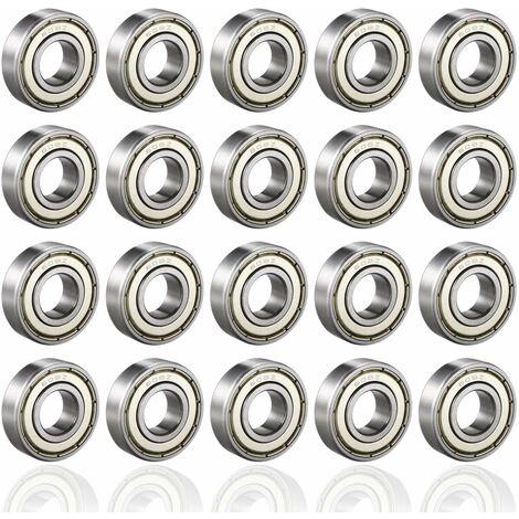 LITZEE 608ZZ Roulements à Billes, ABEC 7, 20PCS Speed Bearings Roulements à billes de qualité pour Roller, Skateboard, Longboard, Waveboard, 8 x 22 x 7mm