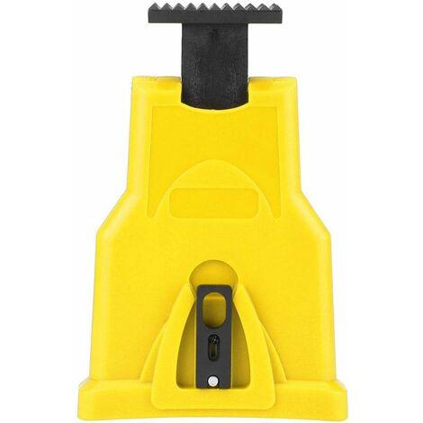 LITZEE Afilador de motosierra eléctrico de alta calidad, afilador de cuchillas de motosierra portátil, kit de afilador de dientes de motosierra, herramientas universales para amoladora de piedra de afilar (amarillo)