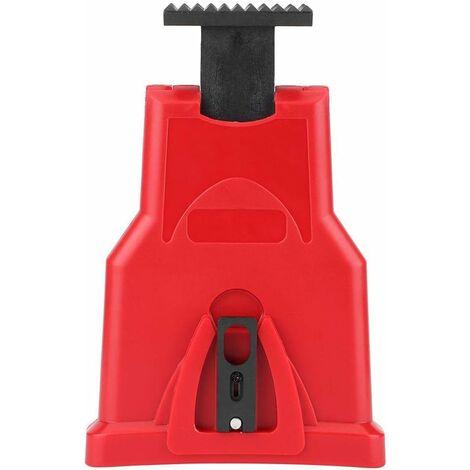 LITZEE Afilador de motosierra eléctrico de alta calidad, afilador de cuchillas de motosierra portátil, kit de afilador de dientes de motosierra, herramientas universales para amoladora de piedra de afilar (rojo)