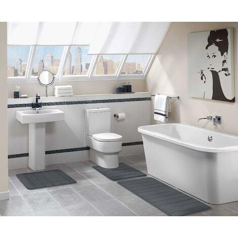 LITZEE Alfombra de baño absorbente y antideslizante De espuma viscoelástica Lavable, Espuma viscoelástica, 40 x 120 cm - lila