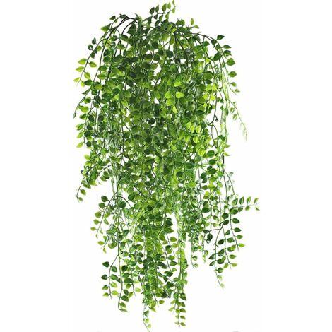 LITZEE Artificial Ivy Vine, 2 piezas, artificiales, para colgar, plantas de vid, plástico falso, guirnalda de hiedra verde para bodas, para colgar en la pared al aire libre, cerca de plantas, enrejado
