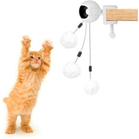 LITZEE Balle interactive pour chien et chat avec corde et balle en peluche, élévateur électrique automatique pour chat et chien, balle rotative à 360 °
