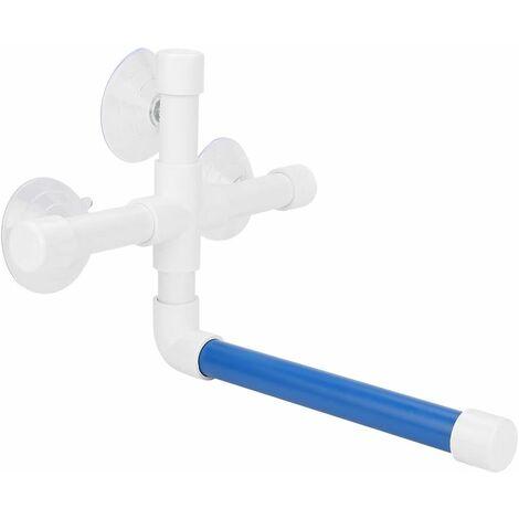 LITZEE Bird Shower Perch, soporte de mesa de plástico en la pared con 3 ventosas para loro, pájaro, guacamayo, cacatúa africana, periquito gris, periquito con juguetes para percha