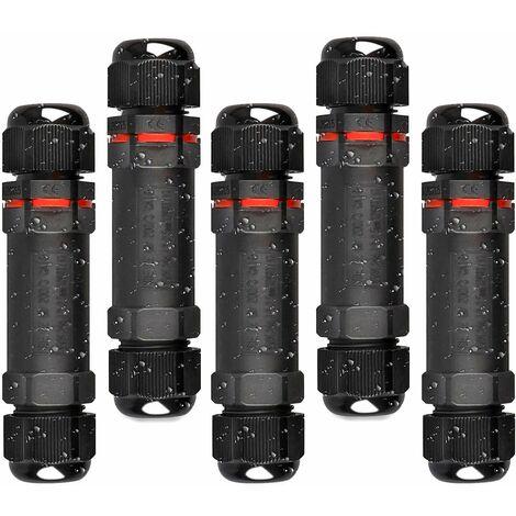 """main image of """"LITZEE Boîte de Derivation Étanche, 5 Pcs Connecteur Électrique Éxterieur IP68, Domino Etanche Boîtier de Jonction Ø 1mm-13mm…"""""""