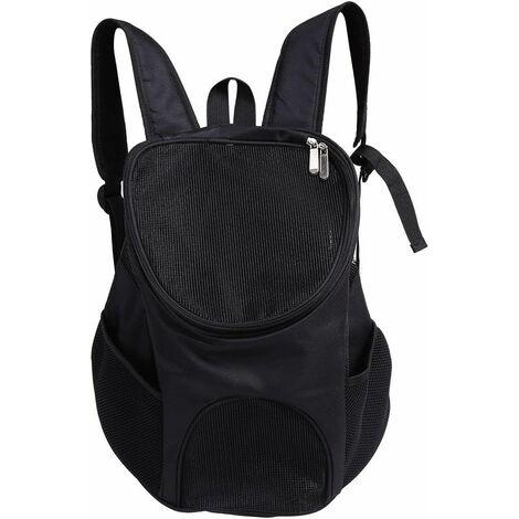 LITZEE Bolsa de transporte para perros gatos, sistema manos libres Ventilación ventilada Bolsa de hombro doble para llevar perros gatos Chinot gatitos conejos caminar senderismo viajar (negro)