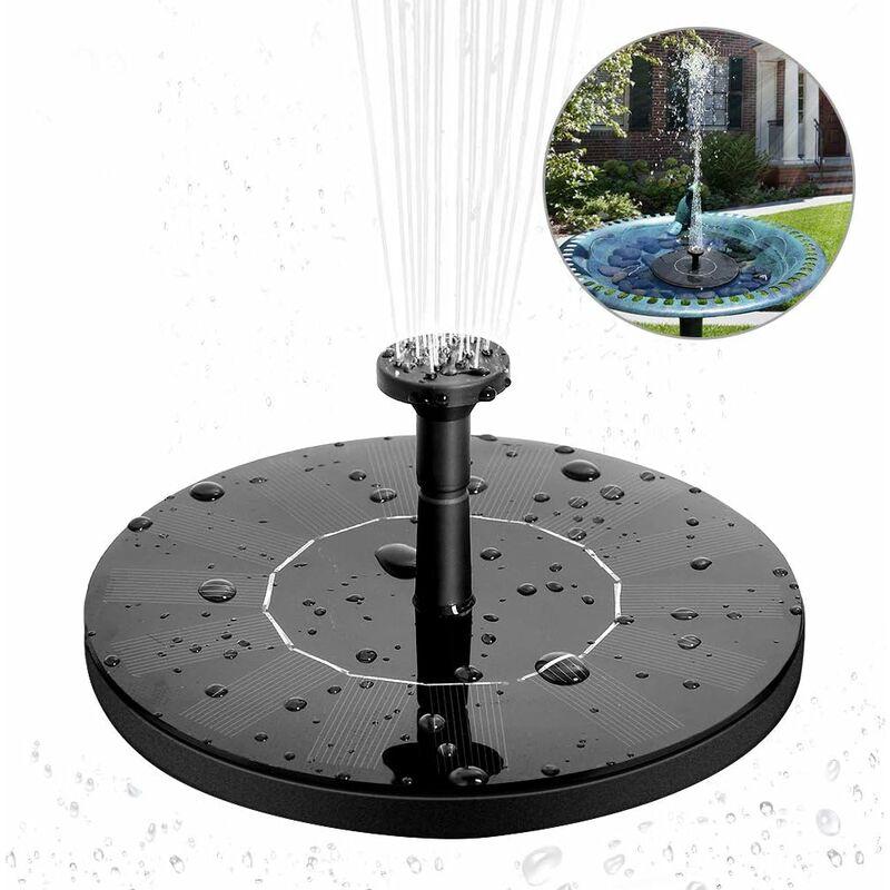Bomba de agua solar de fuente solar 1.4W Fuente flotante solar monocristalina Bomba de fuente solar fácil de usar para jardín, patio, pájaros,