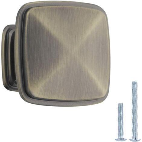 LITZEE Bouton de placard Diamètre 3,17 cm Laiton vieilli