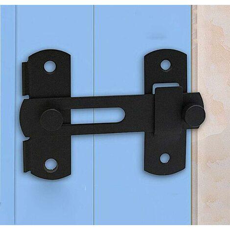 LITZEE Cerradura para puerta corrediza de granero Pestillo de puerta antiguo para gabinete de vino Gabinete de pared Perno de puerta de acero inoxidable Cerradura de puerta corrediza de cobertizo