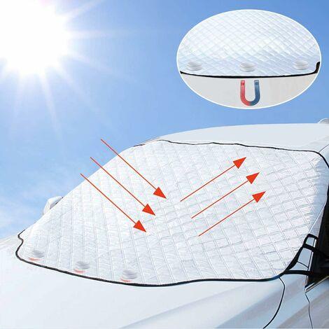 LITZEE Cubierta magnética para parabrisas - Protección para todas las estaciones para la mayoría de los vehículos 190 * 126 cm Plegable