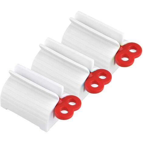 LITZEE Distributeur de Dentifrice,3 Pack Tube de Roulement Rouler Tube Presse Agrume de Dentifrice Tube de Dentifrice de Squeeze de Bain