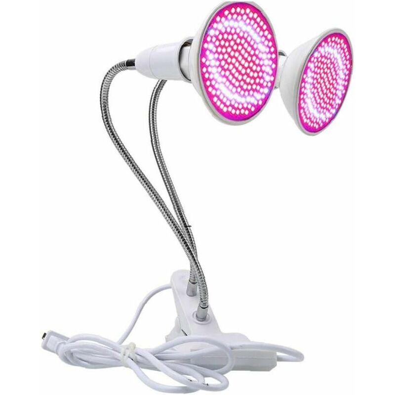 doble cabezal 200led lámpara de clip de luz de escritorio de crecimiento LED luces de plantas planta multifuncional lámpara de interior lámpara de