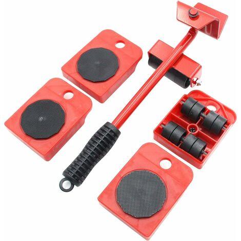 LITZEE Ensemble d'outils de déplacement pour meubles - Glissière de meubles - Roulette robuste - Déplace jusqu'à 300 kg - Convient pour canapés, canapés et réfrigérateurs