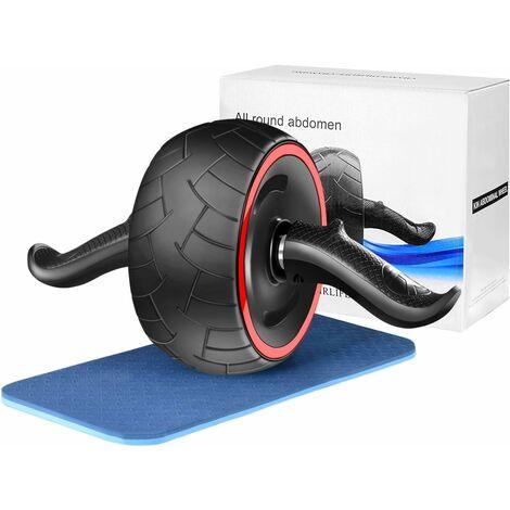 LITZEE Esercizio addominale con rotelle con ginocchiere spesse Wheel Trainer Pro Addominale addominale Esercizio per allenamento Attrezzatura per il fitness