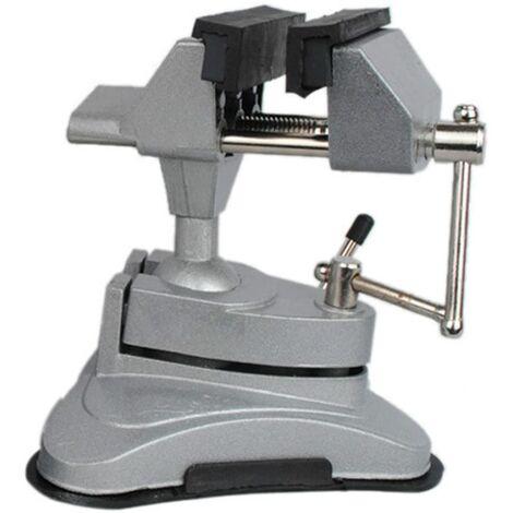 LITZEE Étau de table à tête pivotante multi-angle avec base ventouse.