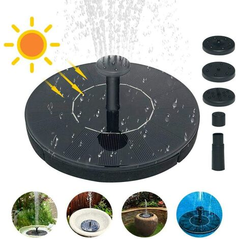 """main image of """"LITZEE Floating Solar Fountain, 1.5W Solar Water Pump for Fountain Pump, for Bird Baths, Small Ponds and Aquariums ..."""""""