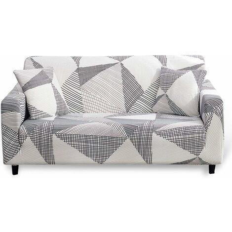 LITZEE Funda de sofá elástica de 3 plazas, 1 pieza de funda de sofá elástica estampada, fundas de sofá protección de muebles poliéster spandex, estampado