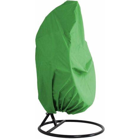 LITZEE funda para muebles de jardín - jardín de mimbre de mimbre impermeable funda para muebles de silla colgante - silla de protección de huevos - funda de PVC de poliéster 210D oxford - verde