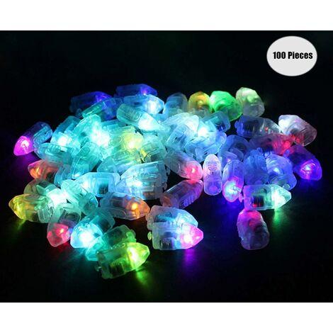 LITZEE Globos Lámparas para Linternas de Papel, Mini Bombilla LED Globos de Luces 100 Piezas Decoración de Fiesta de Boda