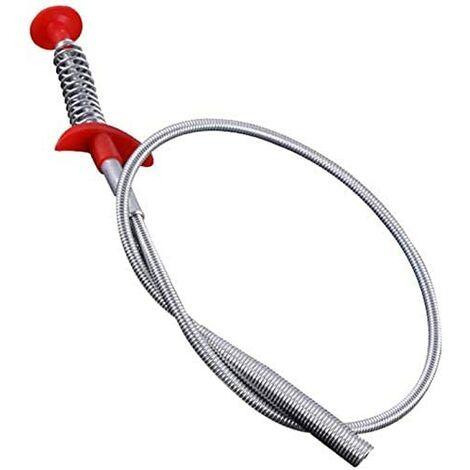 LITZEE Griffe de nettoyage multifonctionnelle, outil de dragage de tuyau de printemps,outil de nettoyage de cheveux de dragage de tuyau de printemps, pour baignoire de toilette d'évier de cuisine